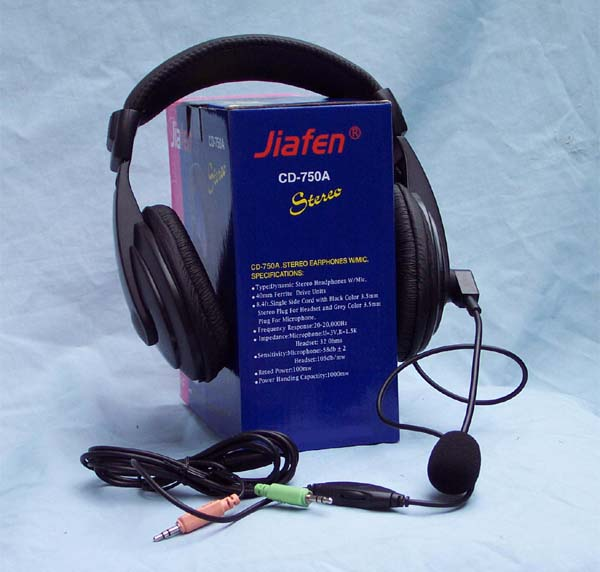 Deluxe Dynamic Stereo Headphone and Microphone Combo With Volumn Control