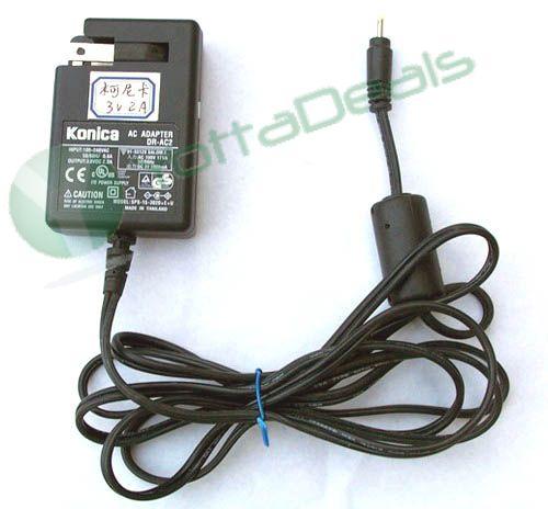 Konica Genuine Original DR-AC2 AC Adapter 3.0V 2.0A 6W For Revio KD-220 Z700 Digital Cameras Brand New