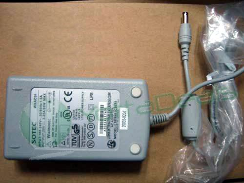 SOTEC WXAC01 19V 3.42A 65W AC Adapter Power Supply with Power Cord Brand New